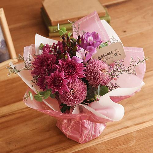 日比谷花壇【日比谷花壇】【お供え用】 O・SO・NA・E flower 「11月のそのまま飾れるブーケ」