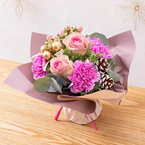 【日比谷花壇】そのまま飾れるブーケ「ローズノエル」